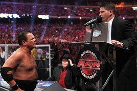 Jerry Lawler confronts Josh Mathews.