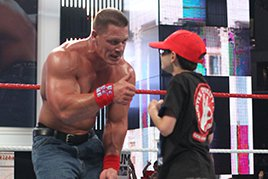 John Cena with a young Cenation member