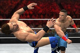 John Cena punching The Miz