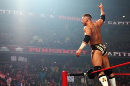 Alex Riley is greeted by the WWE Universe