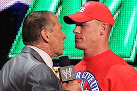 John Cena and Mr. McMahon