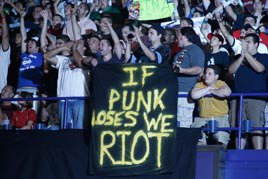 If Punk loses we riot