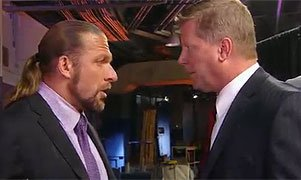 Triple H and John Laurinitais