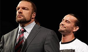 Triple H and CM Punk