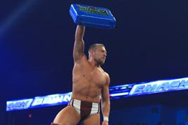 Daniel Bryan with the Money in the Bank briefcase
