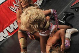 Kelly Kelly goes berserk