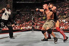 Miz & Truth attack Cena