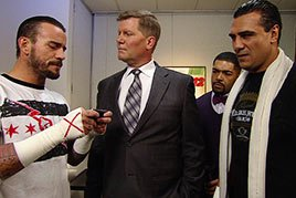 CM Punk Googles David Otunga