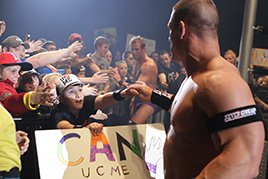 John Cena in Sheffield, England