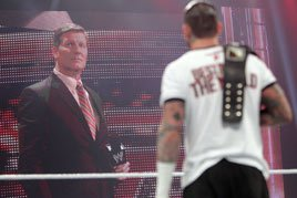 "CM Punk drops ""Office Space"" reference on Laurinaitis"
