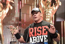 John Cena accepts the Game Changer of the Year Slammy Award