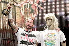CM Punk accepts the Pipe Bomb of the Year Slammy Award