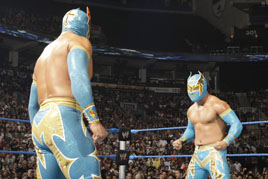 The Sin Caras face off on SmackDown