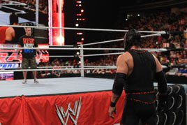 John Cena faces down Kane for the second time on Raw SuperShow, 12/19/11