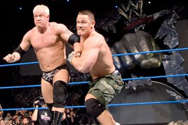 John Cena does battle with Mr. Kennedy on SmackDown.