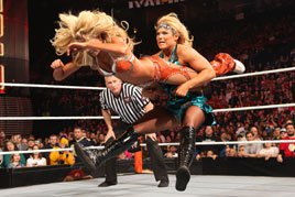 Beth Phoenix delivers a Glam Slam at the 2012 Royal Rumble.
