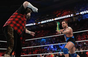 Mr. Socko meets The Cobra in the 2012 Royal Rumble Match.