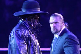 Undertaker confronts Triple H