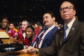 At ringside: Haiti Kid, Joe Frazier, Cab Calloway and Herb