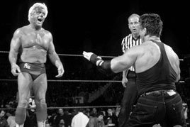 Ric Flair and Mr. McMahon meet in a Street Fight
