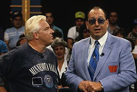 "Legendary on-air cohorts Bobby ""The Brain"" Heenan and Gorilla Monsoon."