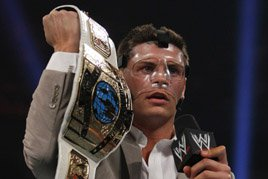 Cody Rhodes reveals the classic Intercontinental Championship belt.