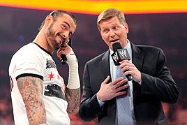 CM Punk isn't buying what John Laurinaitis is selling.