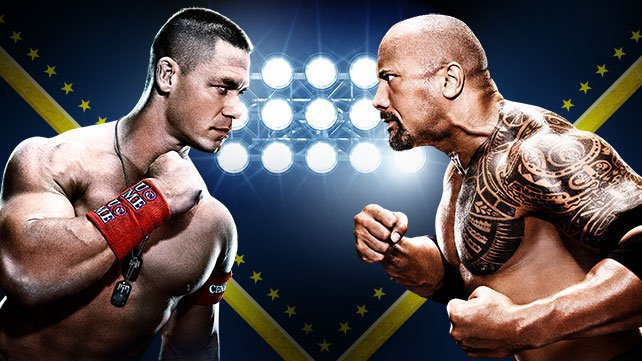 The Rock vs John Cena in WrestleMania 28