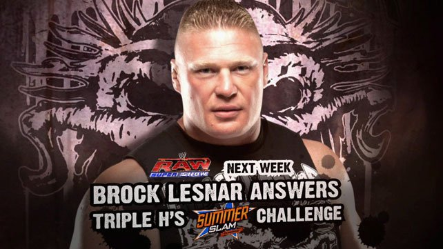 Brock Lesnar to respond to Triple H