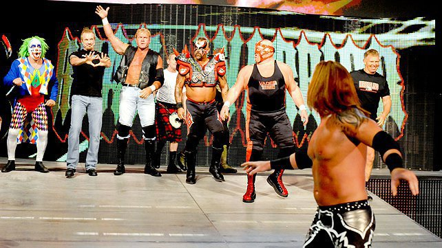 Heath Slater runs from WWE Legends