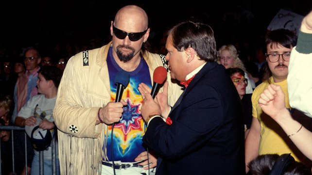 Jesse Ventura and Jim Ross announced for WCW for a time.