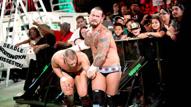 WWE Champion CM Punk defended his title against Daniel Bryan in a No Disqualification Match at Money in the Bank 2012 with AJ as the guest referee.
