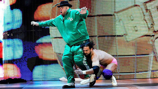 Brodus Clay and Damien Sandow