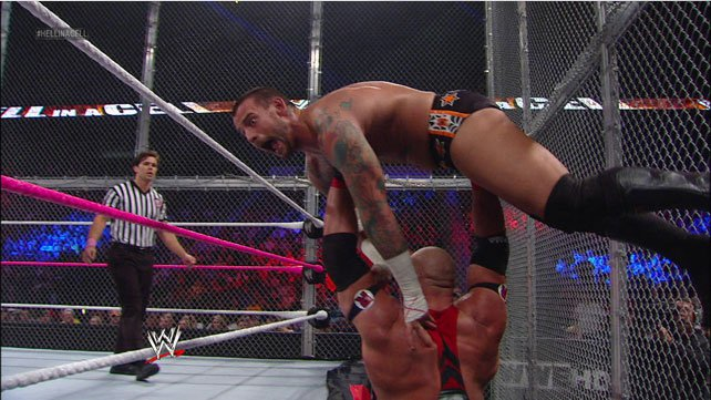 WWE Champion CM Punk def. Ryback (Hell in a Cell Match)