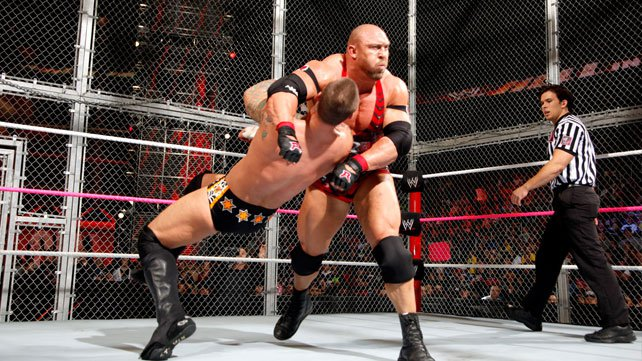 CM Punk defeated Ryback at WWE Hell in a Cell 2012.