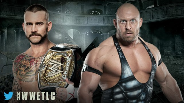 WWE Champion CM Punk will take on Ryback in a Tables, Ladders & Chairs Match Dec. 16.