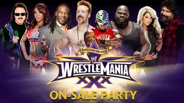 Billets WrestleMania XXX seront disponibles à l'officiel en vente au Parti des Champions New Orleans Square le vendredi 15 novembre