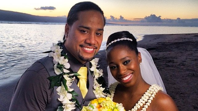 Jimmy Uso with cool, beautiful, Wife Naomi