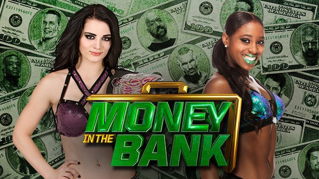 Paige defends the Divas Championship against Naomi at WWE Money in the Bank