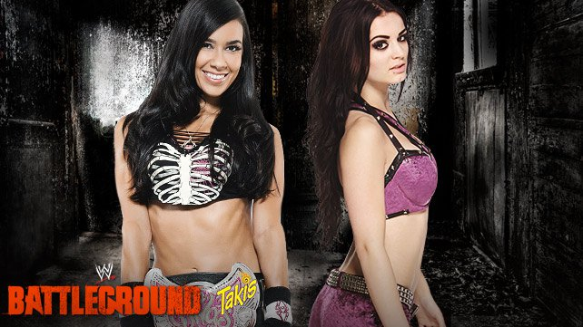 Divas Champion AJ Lee vs. Paige at WWE Battleground
