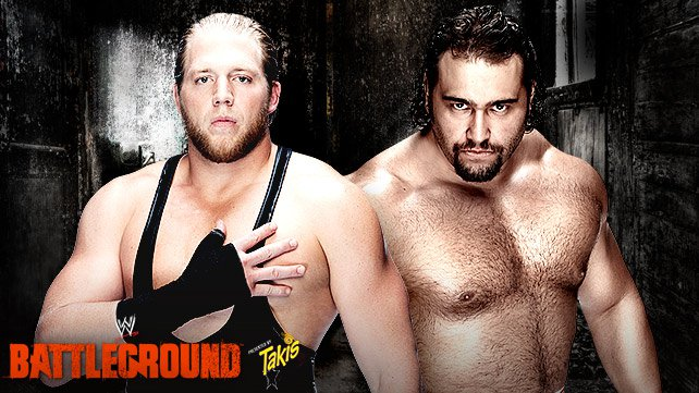 Swagger vs. Rusev at WWE Battleground