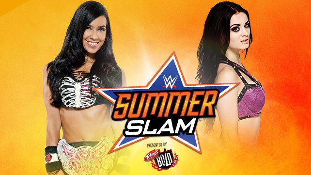 Divas Champion AJ Lee vs. Paige at SummerSlam
