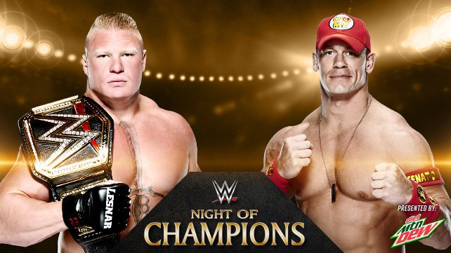 Brock Lesnar vs. John Cena at WWE Night of Champions 2014