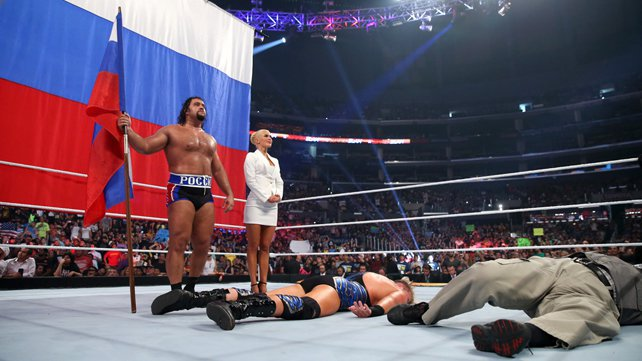 Rusev def. Jack Swagger in a Flag Match