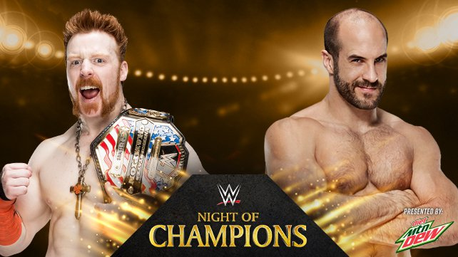 United States Champion Sheamus vs. Cesaro at Night of Champions 2014