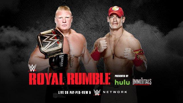 Джон Сина против Брока Леснара на Royal Rumble