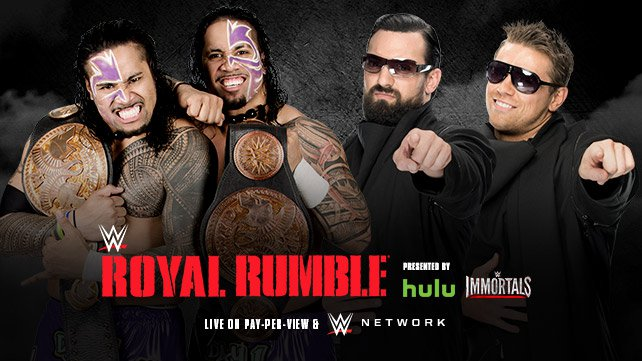 WWE Tag Team Champions The Usos vs. The Miz & Damien Mizdow at Royal Rumble 2015
