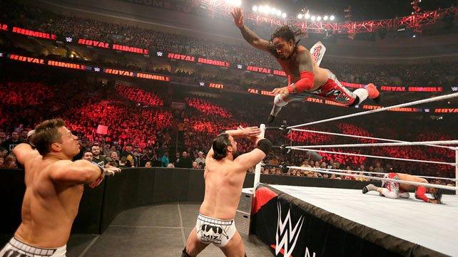 WWE Tag Team Champions The Usos vs. The Miz & Damien Mizdow at Royal Rumble 2015