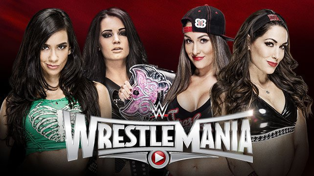 AJ Lee & Paige vs. The Bella Twins at WrestleMania