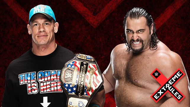 United States Champion John Cena defends against Rusev at Extreme Rules